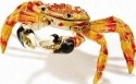 Kubla Crafts Bejeweled Enamel KUB 5-3415 Crab Articulated Box