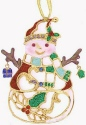 Kubla Crafts Bejeweled Enamel KUB 5-3678 Bejeweled Enamel Ornament Snowman