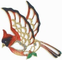 Kubla Crafts Bejeweled Enamel KUB 5-3683 Cardinal Ornament