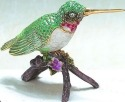 Kubla Crafts Bejeweled Enamel KUB 5-4020 Hummingbird Box
