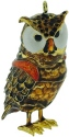 Kubla Crafts Cloisonne KUB 5-4329 Jeweled Articulated Owl Ornament