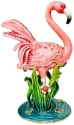 Kubla Crafts Bejeweled Enamel KUB 6-3045 Flamingo Large Box