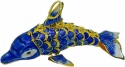 Kubla Crafts Cloisonne KUB 6-4889B Cloisonne Small Dolphin Ornament Blue