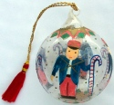 Kubla Crafts Cloisonne KUB 7-0074 Soldier Glass Ball Ornament