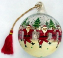 Kubla Crafts Cloisonne KUB 7-0077 Blown Glass Dancing Santa