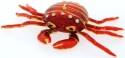 Kubla Crafts Cloisonne KUB 7-4778OR Bejeweled Art Orange Crab Ornament