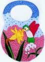 Kubla Crafts Soft Sculpture KUB 8888 Hummingbird Bib