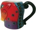 Laurel Burch 26038 Squares Horse Mug 16 oz