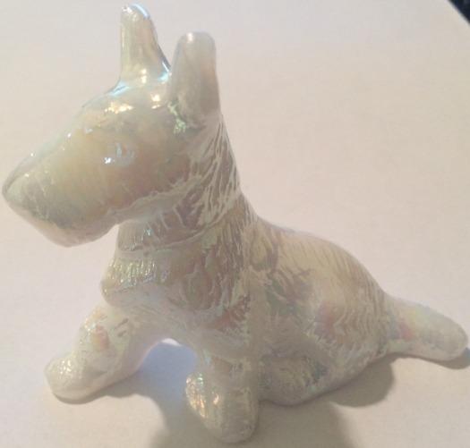 Special Sale LES3ScottieMilkCarn L E Smith Glass 3' Scottie Dog Milk Carnival