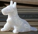 Special Sale LES3ScottieMilkCarn L E Smith Glass 3' Scottie Dog Milk Carnival