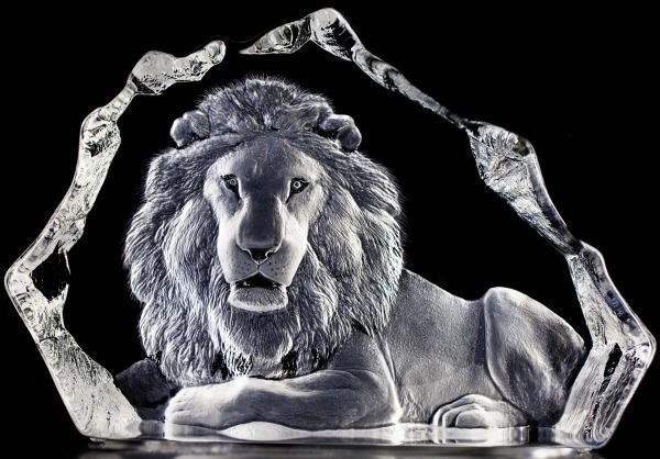 Mats Jonasson Crystal 13305 Lion Ltd Edition 299 pcs