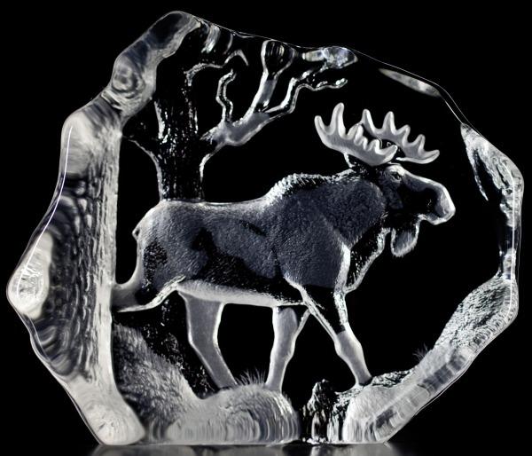 Mats Jonasson Crystal 33566 Bull Moose