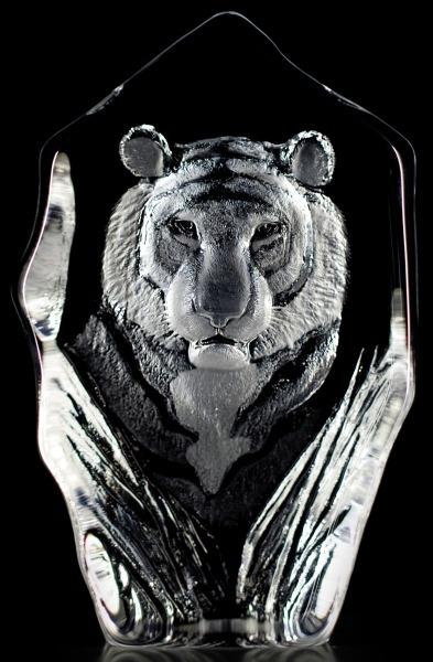 Mats Jonasson Crystal 33686 Tiger Face