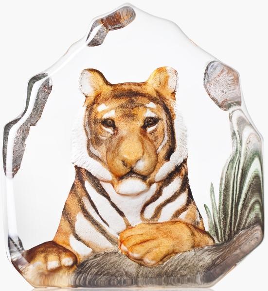 Mats Jonasson Crystal 34175 Tiger Painted