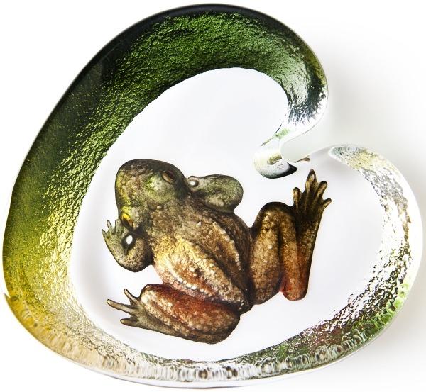 Mats Jonasson Crystal 34221 Frog and Water Lily