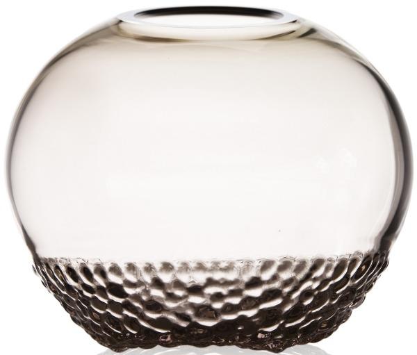 Ludvig Lofgren Crystal 44130 Into The Woods Vase Grey