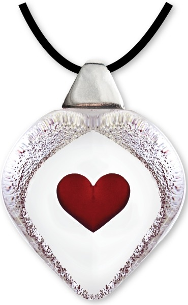 Maleras 84116 Necklace Heart Red large