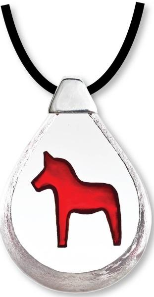 Maleras 84171 Necklace Dalecarlia Horse red