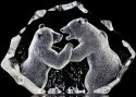 Mats Jonasson Crystal 13306 Fighting Bears Ltd Edition 299 pcs