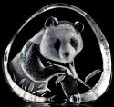 Mats Jonasson Crystal 33363 Panda Eating