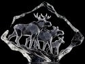 Mats Jonasson Crystal 33636 Moose Family