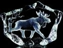 Mats Jonasson Crystal 33747 Moose Striding