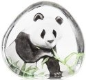 Mats Jonasson Crystal 33937 Panda Eating Painted