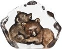 Mats Jonasson Crystal 34176 Bear Cubs Painted