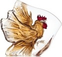Mats Jonasson Crystal 34179 Rooster Painted