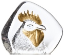 Mats Jonasson Crystal 34238 Rooster Head Gold