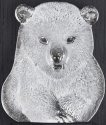 Mats Jonasson Crystal 63062 Mini Polar Bear Cub Wall sculpture
