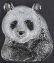 Mats Jonasson Crystal 63067 Mini Panda Wall Sculpture