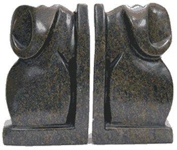 Shona Stone Sculptures AEB-PR8 Elephant Bookends Bookend