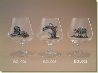 Makoulpa BGL005 Leopard Brandy Glass