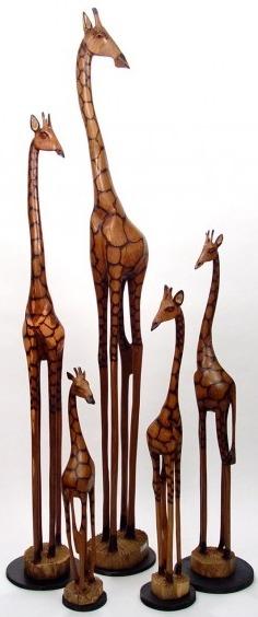 Jacaranda GO48 Giraffe Olivewood Statue
