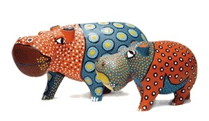 Jacaranda JPWOH11 Hippo Statue