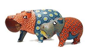 Jacaranda JPWOH8 Hippo Statue