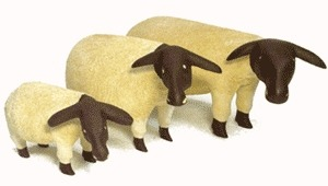 Jacaranda JSHEEP-M Medium Sheep Statue