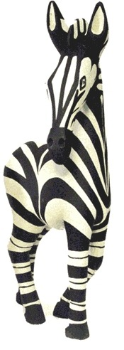 Jacaranda MWZ20 Medium Zebra Statue Wood Made in Zimbabwe $60.99