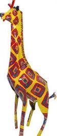 African Tin Animals PTAG Giraffe Painted Tin