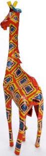 African Tin Animals PTASG Giraffe Painted Tin