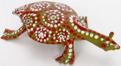 African Tin Animals PTITOR Tortoise Painted Tin
