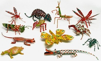 African Tin Animals PTINSECTSSET Insect Painted Tin Set