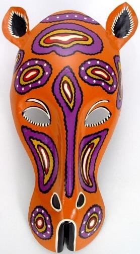 African Tin Animals PTMCHE Cheetah Painted Tin Mask