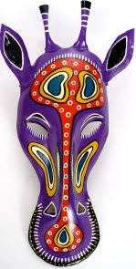 African Tin Animals PTMGIR Giraffe Painted Tin Mask