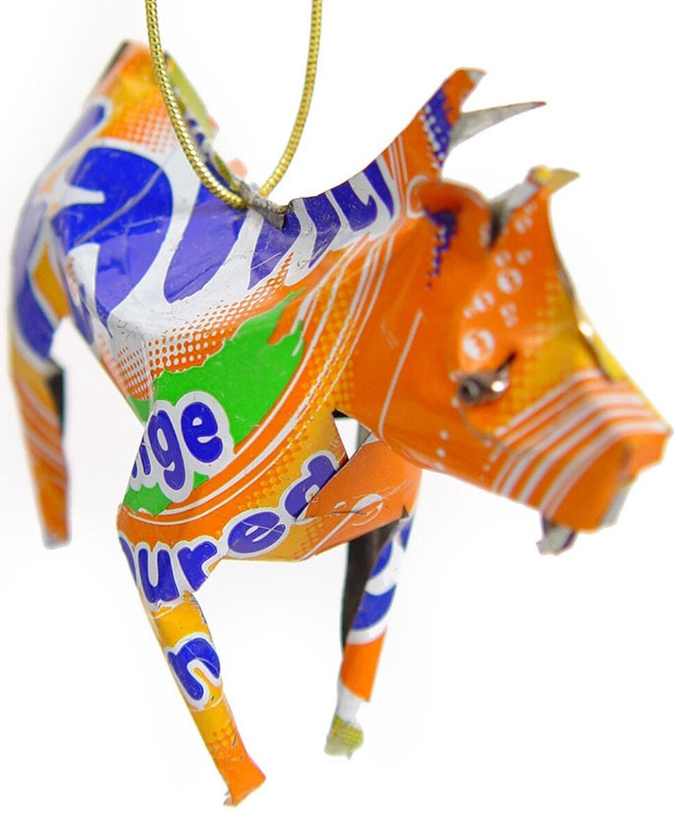 African Tin Animals TOZ Zebra Unpainted Tin Ornament