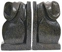 Shona Stone Sculptures AEB-PR8 Elephant Bookends Bookend