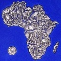 Makoulpa APP003 Africa Pewter Africa Puzzle