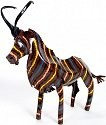 African Tin Animals PTASAB Sable Painted Tin