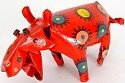 African Tin Animals PTASH Hippo Painted Tin